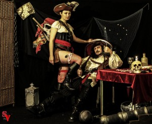sirius assis et venusia debout spectacle pirate magie