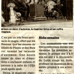 article ER juillet 2014 Spectacle de magie - Sirius l'illusionniste magicien
