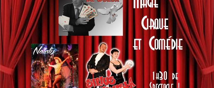 Soirée Cabaret «Décontr'Actes», premier spectacle d'une longue série ! avec Sirius, Venusia, Nataly, Laurent Vallet