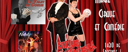 Réservez votre place pour la soirée gratuite du cabaret Décontr'Actes ! Magie, Illusion, Burlesque ! Du grand spectacle avec Nataly, Le valet de Coeur, Venusia et Sirius !