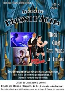 Soirée cabaret Décontr'Actes 30 juin 2016 - Ecole de danse Herrero - Audincourt - Magie - Illusion - Arts visuels - Sirius et Venusia