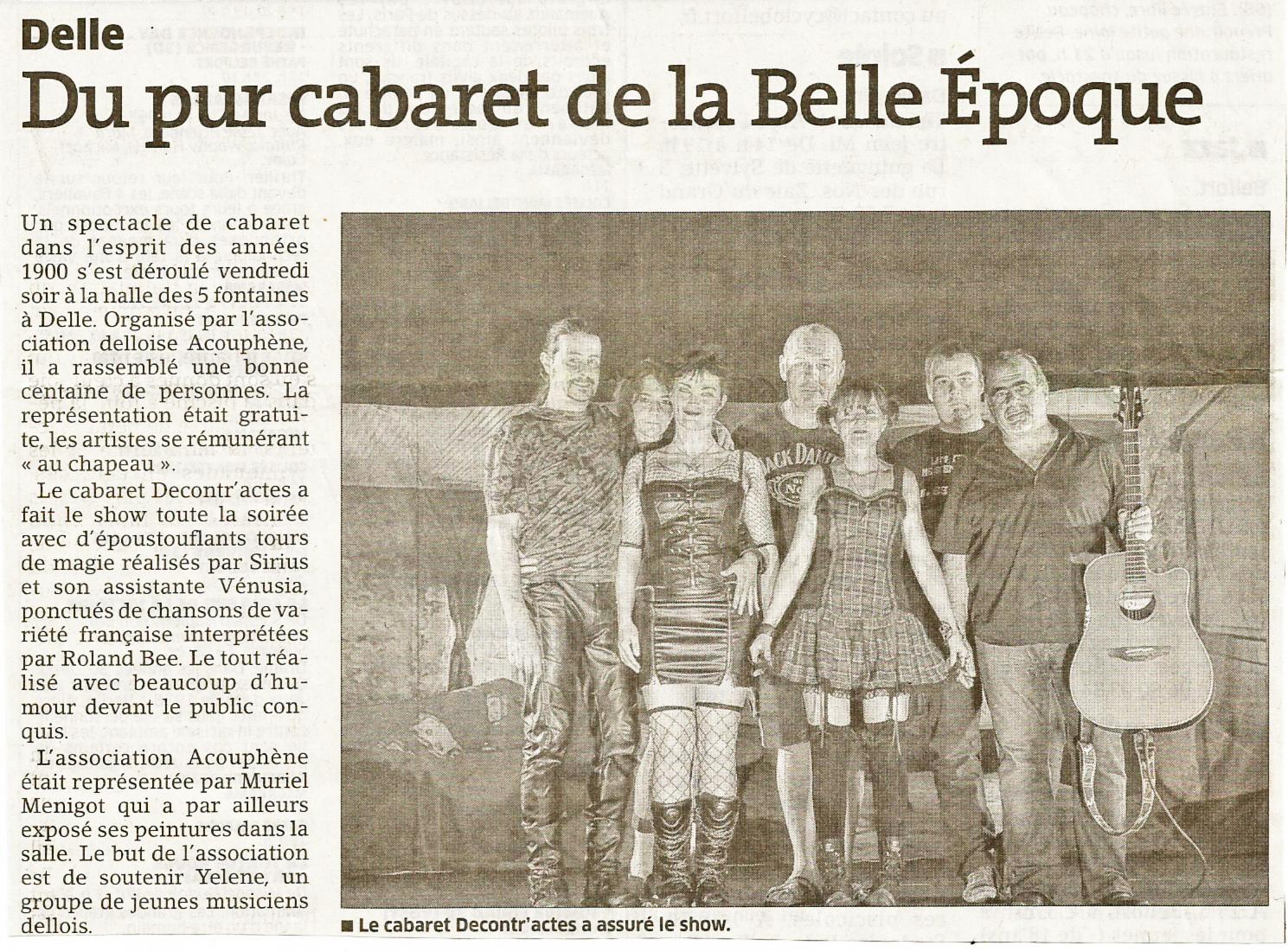 0e356c3df070 Article Est Républicain Edition Belfort pour le Cabaret Décontr'Actes 3 à  Delle le 05