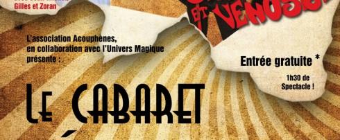 6ème édition du Cabaret Décontr'Actes ! Sirius, Venusia et Gaston chante Renaud – à Delle le 21 Janvier 2017