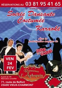 Sirius et Venusia animation dansante et karaoké au restaurant l'Arlequin