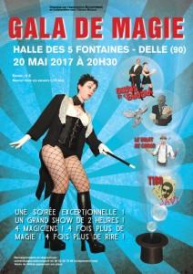Gala de magie exceptionnel à Delle, le 20 mai 2017 - Sirius et Venusia, le Valet de Coeur, Javi, Tibo - Spectacle illusion comique