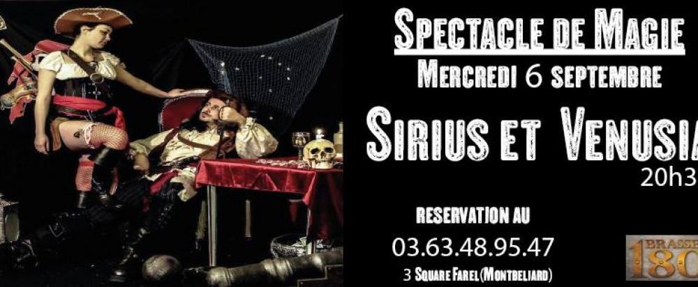 Spectacle de magie avec Sirius et Venusia à la Brasserie 1801 à Montbéliard  le 6 septembre 2017