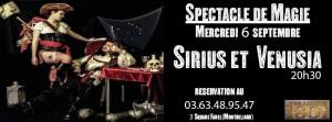 spectacle de magie sirius et venusia brasserie 1801 montbéliard 6 septembre 2017