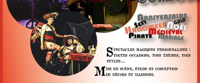 Nouveau flyer – Sirius et Venusia – Spectacles de magie